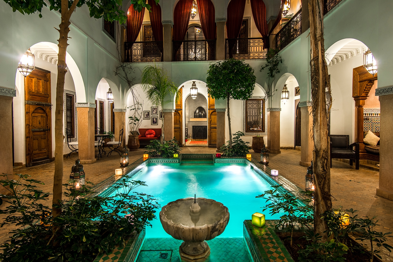 Rebuilt eight bedroom boutique hotel for sale in the - Riad medina marrakech avec piscine ...